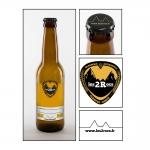 étiquette de bière artisanale les 2 Rocs