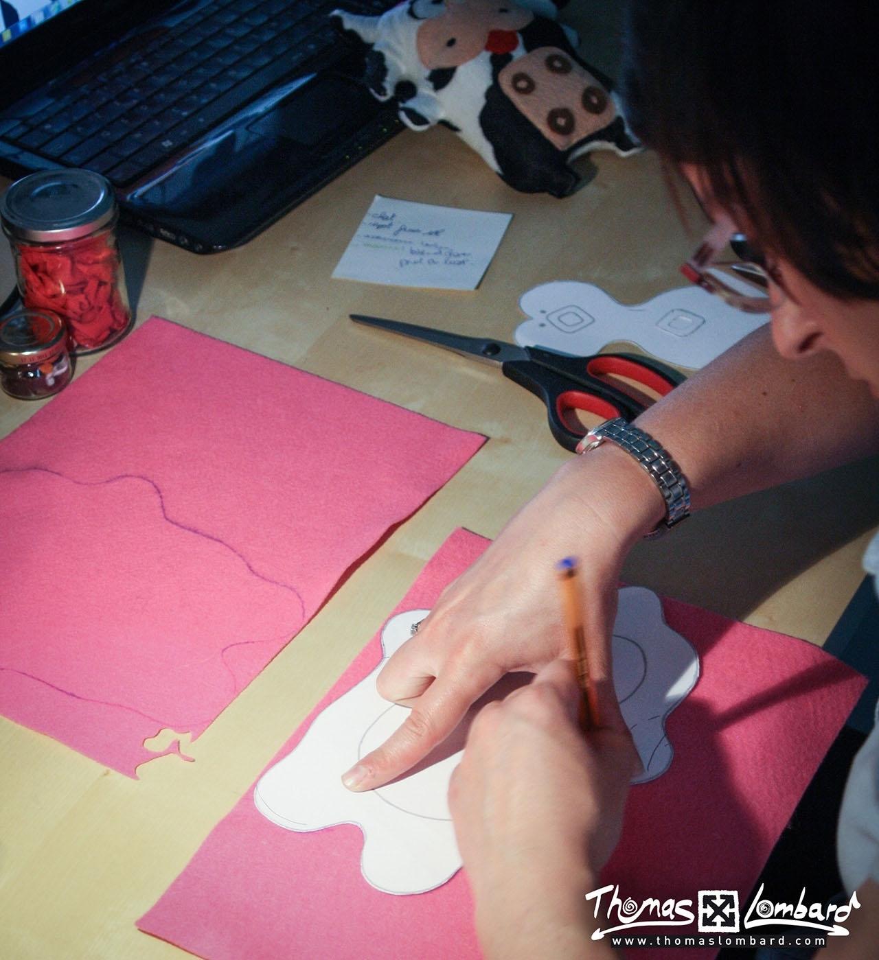 Prissou couture - trace forme doudou
