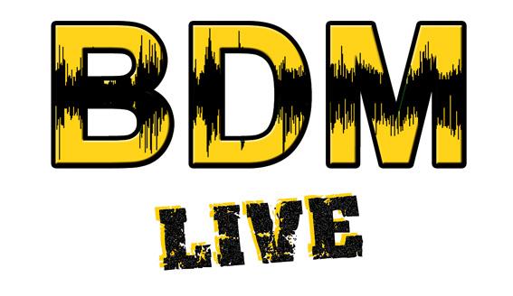Le côté rugueux du rock n roll alliée à une structure solide et posée, voilà l'essence du logo retenu pour BDM Live.