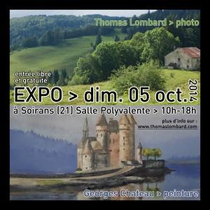 expo photo et peinture à Soirans les dimanche 05 octobre 2014 avec Georges Chateau et Thomas Lombard