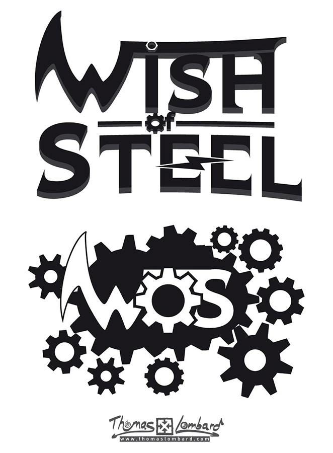 2ème proposition de logo pour le groupe de Metal Wish of Steel.
